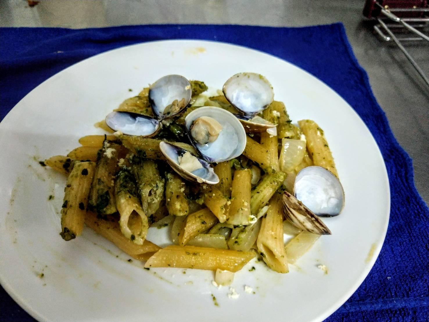 青醬蛤蜊麵