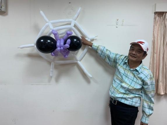 萬聖節蜘蛛氣球